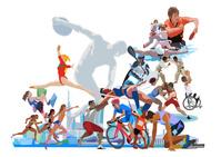 ポップな街とオリンピックスポーツ