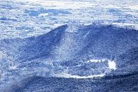 神奈川県 大山阿夫利神社からの雪の丹沢伊勢原市