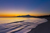 鳥取県 朝の弓ヶ浜と大山