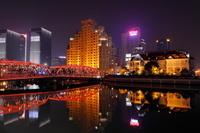 上海 ブロードウェイマンションとその周辺の夜景