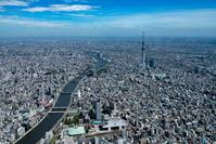 東京都 隅田川、両国駅より東京スカイツリー
