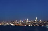 アメリカ合衆国 ニューヨーク マンハッタンの夜景