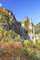 北海道 紅葉の層雲峡 銀河の滝