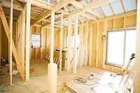 一戸建て住宅の施工現場