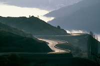フランス ミディ・ピレネー地方 山岳道路