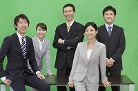 ビジネスチーム グリーンバック