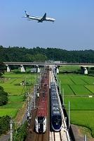千葉県 成田市 飛行機と電車
