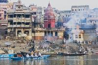 インド ベナレス ガンジス河 マニカルニカ・ガート