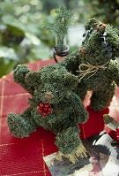 植物を使った創作人形 テディベア