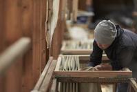 工房で働く江戸小紋職人