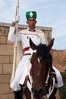 モロッコ モハメッド5世廟の騎馬兵