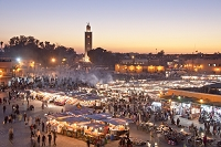 モロッコ マラケシ ジャマ・エル・フナ広場