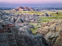 アメリカ合衆国 サウスダコタ バッドランズ国立公園 カラフル...