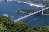 愛媛県 カレイ山展望公園より大島大橋と伯方島