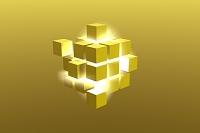 光と立方体の集合 CG