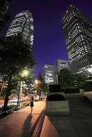 東京都 新宿の高層ビル群 夜景