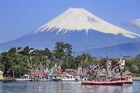 静岡県 大瀬まつり 富士山とまつり船