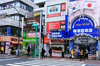 東京都 新大久保のコリアタウン