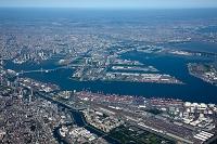 八潮 大井コンテナターミナルと東京港方面