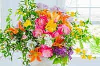 チューリップとヤマブキの花