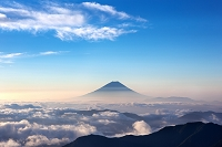 山梨県 朝の富士山
