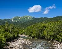 新潟県 銀山平 北又川と越後駒ヶ岳