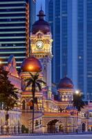 マレーシア クアラルンプール 夜のスルタン・アブドゥル・サマ...