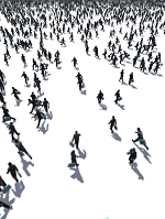 ビジネスマンの群衆