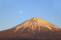 静岡県 田貫湖 富士山と月