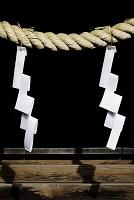岡山県 和気神社 祠の注連縄と紙垂