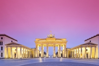 ドイツ ベルリン ブランデンブルグ門 夕景