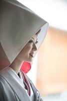 白無垢の花嫁 綿帽子