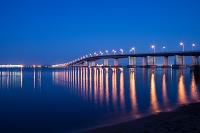 滋賀県 琵琶湖大橋の夕景