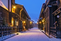 岐阜県 雪の上三之町