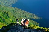 長野県 登山者