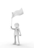 旗を持つ人形