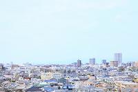静岡県 住宅街と空