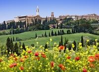 イタリア 花と街並み/遠望