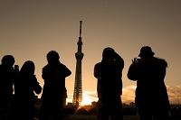 東京都 東京スカイツリーの初日の出