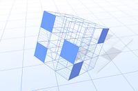 立方体と二進法 CG
