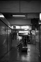 岩手県 古いバスターミナルの待合室