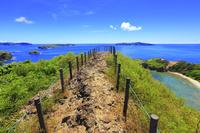 東京都 小笠原諸島 母島 小富士遊歩道から望む大瀬戸と島々