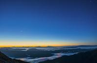 長野県 夜明けの八方尾根