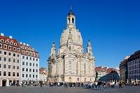 ドイツ フラウエン教会とノイマルクト広場
