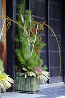 京都府 商店の正月飾り