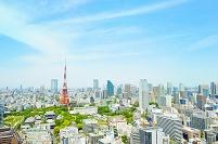 東京都 東京タワーと街並み