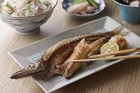 カマスの干物の焼魚