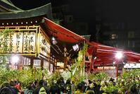 大阪府 大阪市 今宮戎神社 十日えびすの風景 夜景