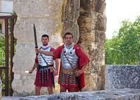 クロアチア プーラ 円形劇場 デモンストレーションの騎士