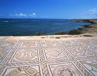 リビア・サブラタ遺跡 海に向いた浴場のモザイク